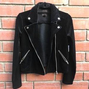 NWT: free press Black Velvet Jacket
